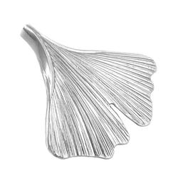 Gallay Kettenanhänger Anhänger 33x34mm Ginkgo-Blatt glänzend Silber 925 (inkl. Schmuckbox), Silberschmuck für Damen