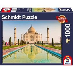 Schmidt Spiele Puzzle Schmidt 58337 - Premium Quality - Taj Mahal, Puzzle 1000 Teile, 1000 Puzzleteile