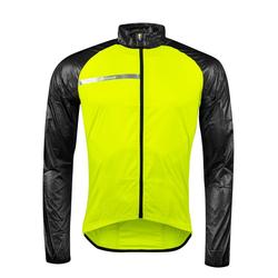 FORCE Fahrradjacke Jacke Windpro winddicht, fluo-schwarz L