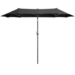 garten gut Sonnenschirm Malaga, LxB: 290x150 cm, Inkl. Schutzhülle, ohne Schirmständer grau
