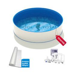 Pool Total - Pool-Set TOP+ Ø 3,50 x 0,90m, 0,6mm Stahl, 0,8mm Folie mit Keilbiese