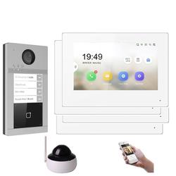 WLAN IP Türsprechanlage für 4-Familienhaus mit RFID und HD Kamera 1 Kamera