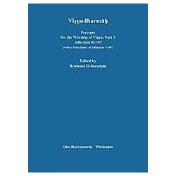 Visnudharmah / Precepts for the Worship of Visnu: Part 3 Visnudharmah - Buch
