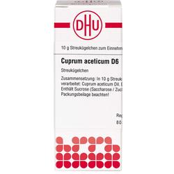 CUPRUM ACETICUM D 6 Globuli 10 g