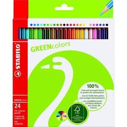 Farbstifte GREENcolors Etui mit 24 Stiften
