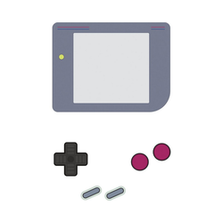 RoomMates Wandsticker Wandsticker Nintendo Gameboy Dry Erase