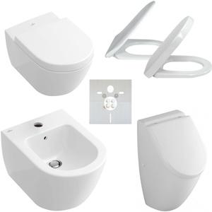Villeroy & Boch Subway 2.0 Komplett Set optional mit WC, WC-Sitz, Urinal, Bidet