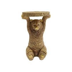 KARE Beistelltisch Beistelltisch Animal Bear Gold 35x34cm