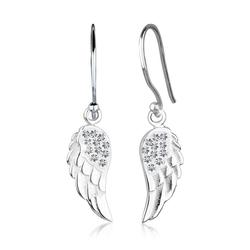 Elli Ohrhänger-Set Engelsflügel Flügel Kristalle Silber, Flügel