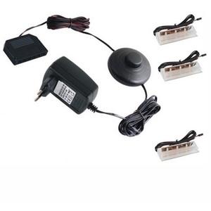 1-6 Stück LED-CLIPS als Glaskantenbeleuchtung + Trafo + Druckschalter -warm-weiß