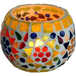 Guru-Shop Windlicht Mosaik Windlicht Glas 9 cm - 1