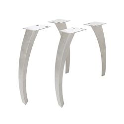 DELIFE Tafelpoten Live-Edge boomtafel metaal gebogen 7,5x5,5 cm (set van 4), Tafels
