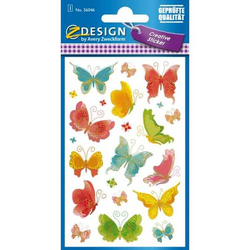 Sticker Papier Schmetterlinge 1 Bogen