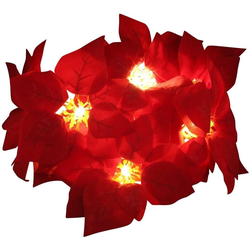 JOKA international LED-Lichterkette LED Lichterkette Weihnachtsstern Deko Weihnachten 10teilig, 10-flammig