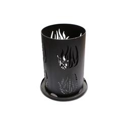 Feuersäule 60 cm Feuerschale Feuerkorb Flamme schwarz rost