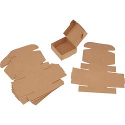 VBS Kraftpapier Kraftpapier Faltschachteln Quadrat, 6 Stück