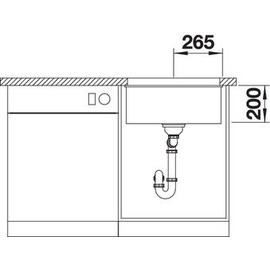Blanco Etagon 500-U weiß + Handbetätigung + InFino