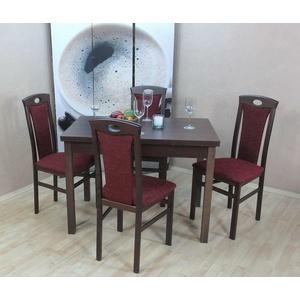 Essgruppe 5-tlg. Stühle Stuhl Tisch Esstisch-Ausziehbar Sitzgruppe Farbwahl