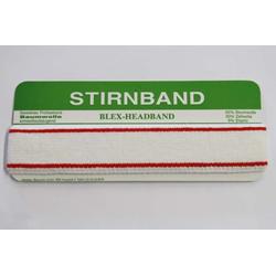 Stirnband  -  Elastisches Baumwoll - Frotteeband  -  40 mm  -  rot