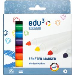 edu³ 8 Fenster-Marker Fenstermalstifte