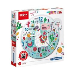 Clementoni® Puzzle Clock Puzzle 96 Teile - Lama, Puzzleteile