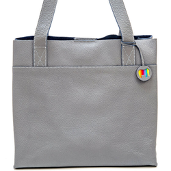Mywalit Vancouver Torba shopper skórzana 32 cm grey