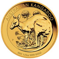 1/2 Unze Gold Australien Känguru 2021