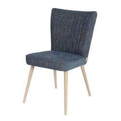Krzesło tapicerowane Biskit z przeszyciami na oparciu