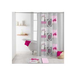 dynamic24 Duschvorhang Breite 180 cm, Badewannenvorhang 180x200 Orchidee Wannenvorhang Bad Dusche Vorhang