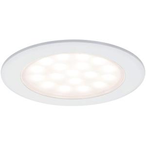Paulmann 99921 LED Möbelleuchte Einbauleuchte rund incl. 2x2,5 Watt Schrankleuchte Weiß matt Schranklicht Aluminium, Kunststoff Küchenlampe 3000 K