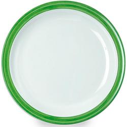 WACA Teller Bistro, (4 Stück), Melamin, 23,5 cm grün