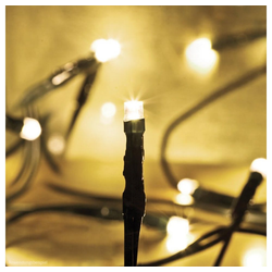 matches21 HOME & HOBBY LED-Lichterkette LED Minilichterkette Mini Lichterkette warmweiß / grünes Kabel 100-flammig, 100-flammig