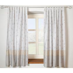 Vorhang Set Streifenbär, beige, je 130 x 150 cm (2 Schals) von Alvi