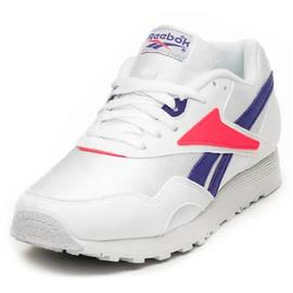 Reebok Rapide white/team purple/neon red 45