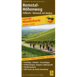 Wanderkarte Remstal-Höhenweg 1 : 35 000