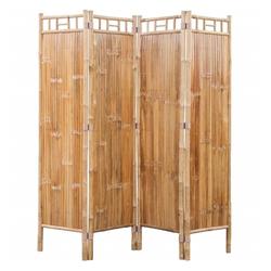 vidaXL Raumteiler Bambus Raumteiler Paravent 4-teilig