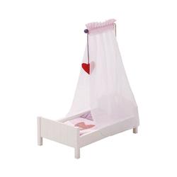 roba® Puppenhausmöbel Puppenbett Fienchen mit Himmel, weiß