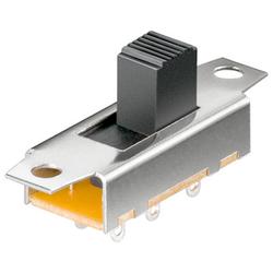 Schiebeschalter, 3,0 A/150 V, 6 Pins, 2x UM