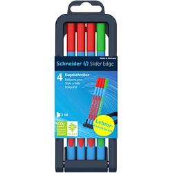 4 Schneider Kugelschreiber Slider Edge XB Lehrerkorrekturset blau Schreibfarbe farbsortiert