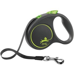 flexi Flexileine BLACK DESIGN Gurtleine, Kunststoff grün S