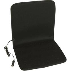 Unitec Beheizbare Sitzauflage 12V 75745 Acrylglas matt, Schwarz
