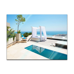 Bilderdepot24 Glasbild, Glasbild - Pool 80 cm x 60 cm