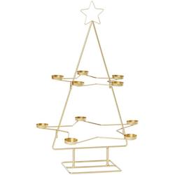Teelichthalter Weihnachtsbaum, 10-flammig, Höhe 68 cm