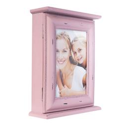 elbmöbel Collagerahmen Schlüsselkasten rosa, für 1 Bilder, Bilderrahmen: Schlüsselkasten 20x25x7 cm rosa prinzessin