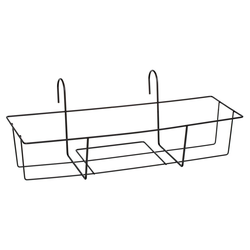 Dehner Blumenkastenhalter Blumenkastenhalter Trixie, Metall, schwarz 65 cm x 22 cm x 23 cm