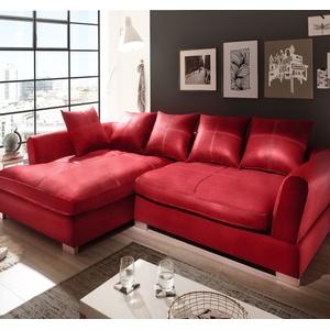 Design Couchgarnitur Rot Big K Leder Sofa Eck Sofa Wohnlandschaft Megasofa Links