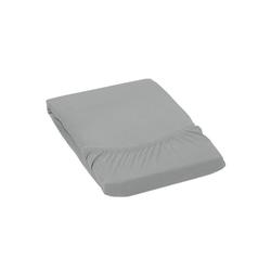 Betttuch MONA, GMD Living, auch für Wasserbetten und Boxspringbetten geeignet grau 160 cm x 200 cm