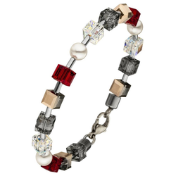 JOBO Armband, Kristallsteine mit Edelstahl 19 cm