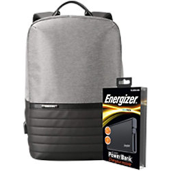 Energizer Laptop-Rucksack mit UE10004 Powerbank Grau 29 x 12 x 45 cm