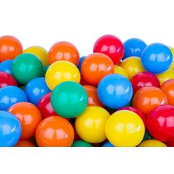BigDean Bällebad-Bälle 300 Bälle 7cm für Bällebad Plastikbälle Spielbälle Kinder Gelb Grün Blau Rot Orange
